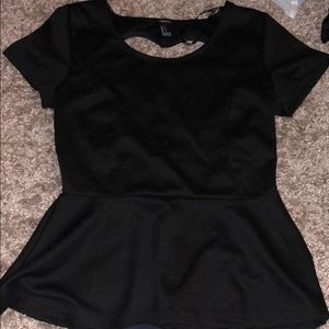 Heart shaped peplum shirt